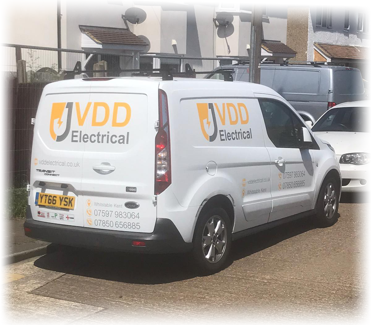 Rich results on Google's SERP when searching for 'Kent Electrician' and 'VDD Electrical'